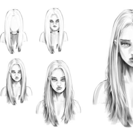 Progress character art – Beth