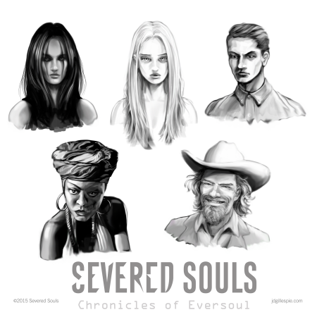 Severed Souls Concept Art – Group