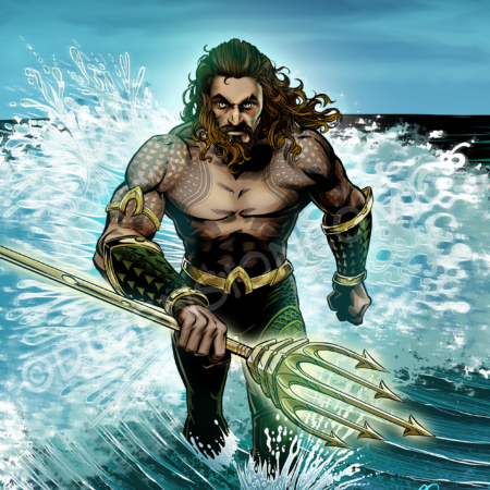 Jason Momoa Aquaman color