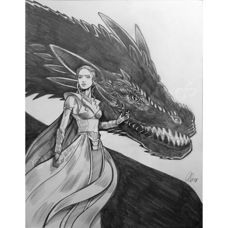 Daenerys and Drogon pencil